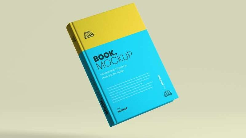 Free Flying Book Cover Mockup