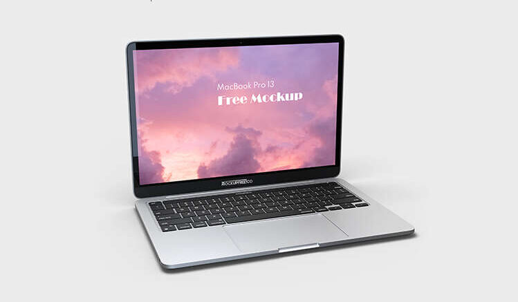 Free MacBook Pro 13 Mockup in PSD