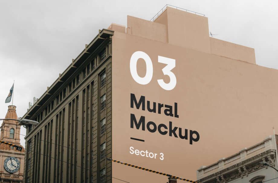 Free Mural PSD Mockup