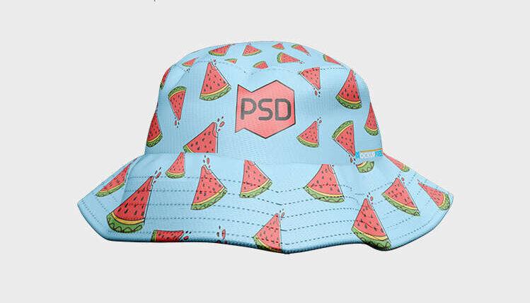 Free PSD Bucket Hat Mockup Template