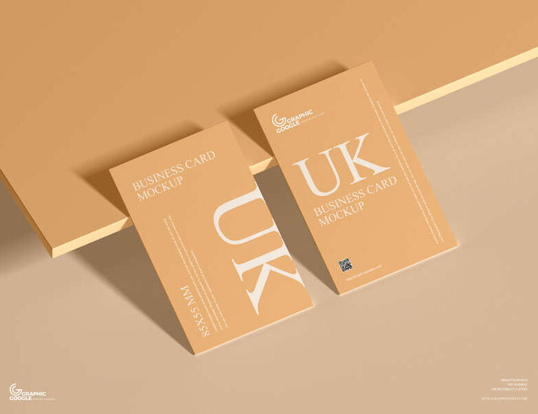 Free UK 85×55 mm Size Business Card Mockup