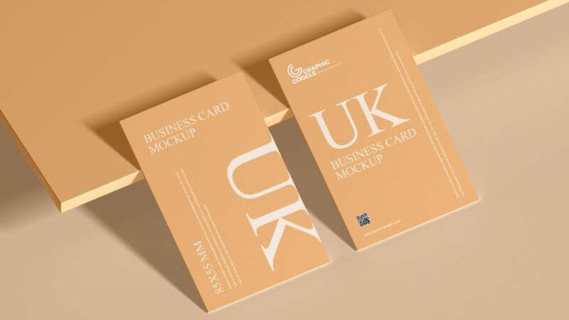 Free UK 85×55 mm Size Business Card Mockup