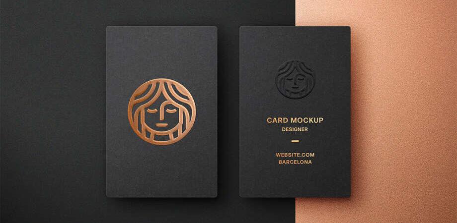 FOIL EMBOSSING BUSINESS CARD MOCKUP