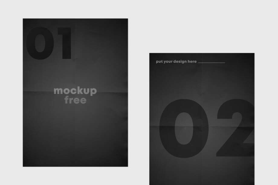 Folded Flyer Free Mockup