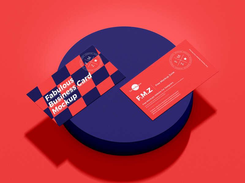 Free Fabulous Business Card Mockup