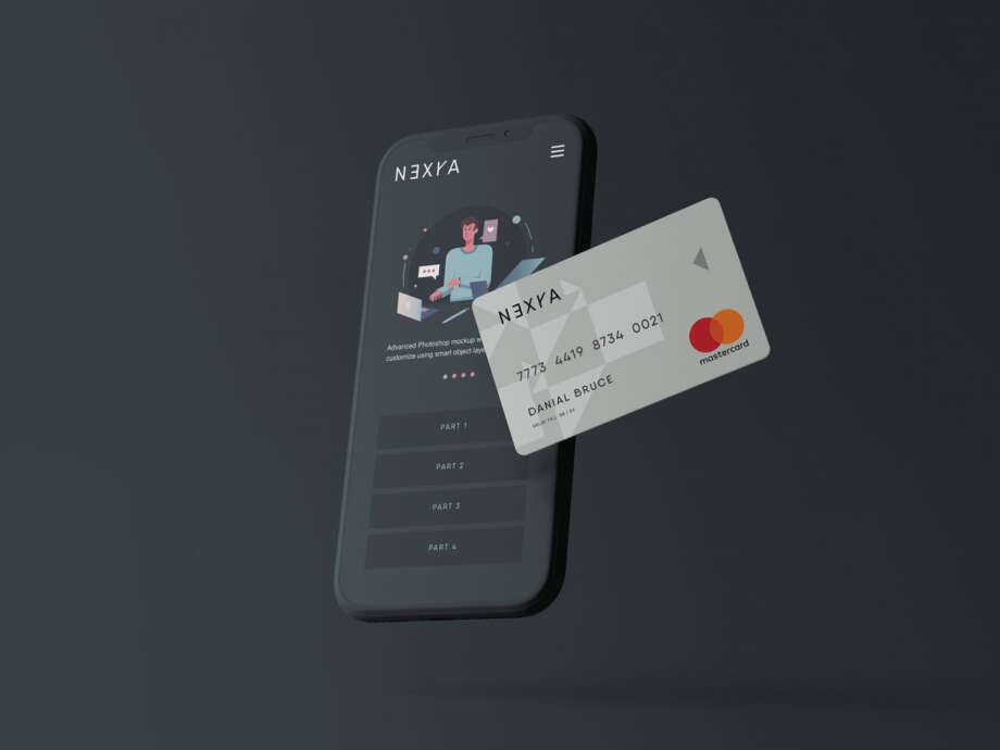 Free Online Payment Mockup
