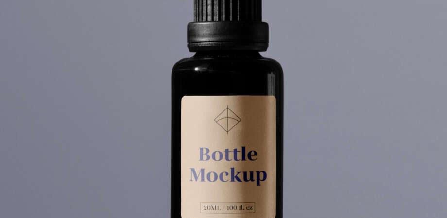 Free Plastic Bottle Mockup