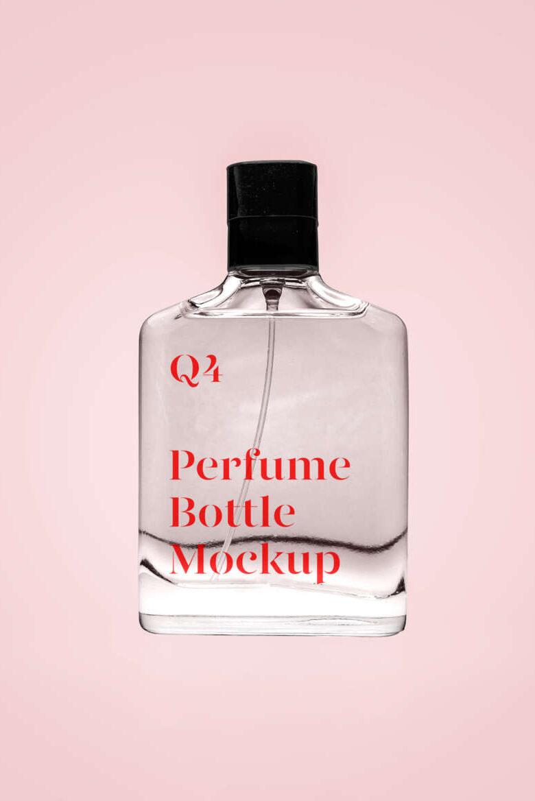 Free Transparent Perfume Mockup