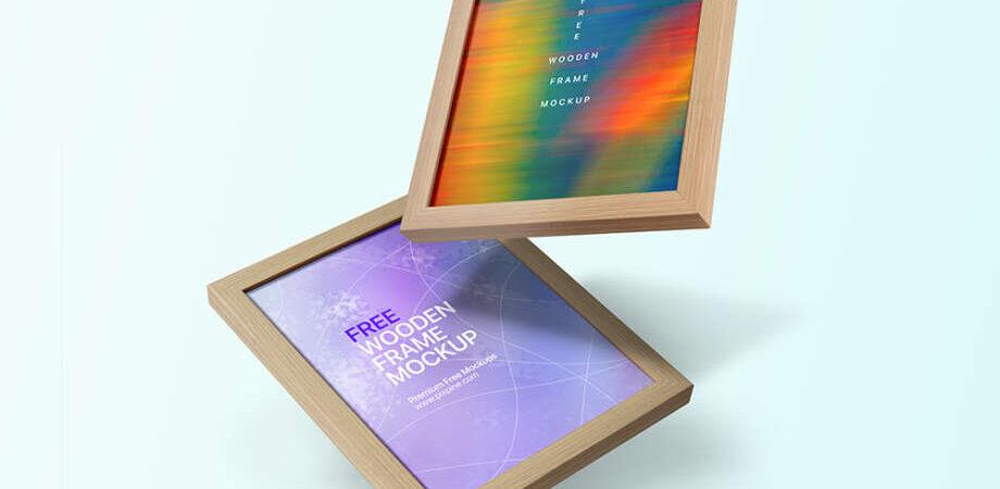 Free Wooden Frame Mockup