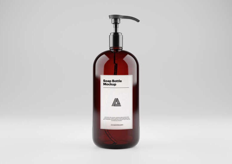 Soap Bottle Free Mockup