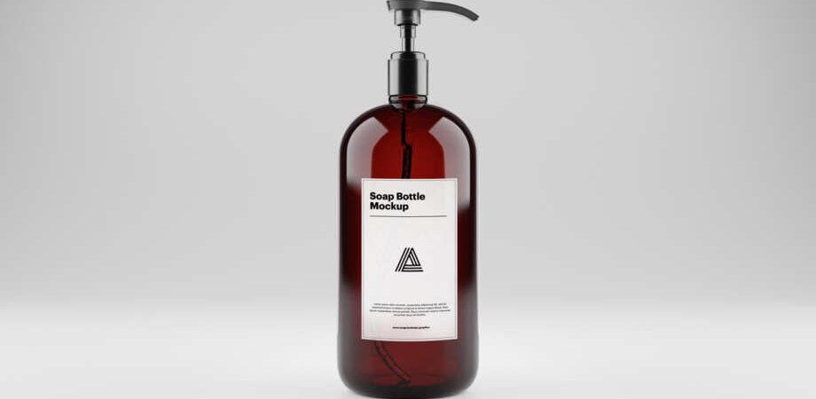 Soap Bottle Free Mockup