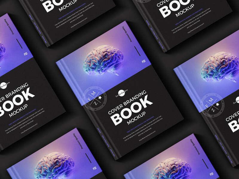 Free PSD Cover Branding Book Mockup