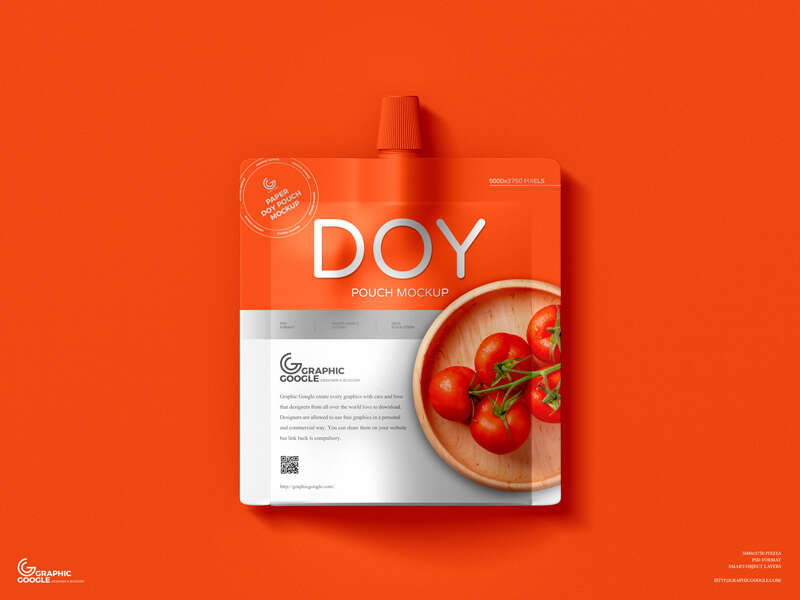 Free Paper Doy Pouch Mockup