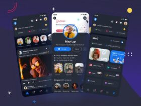 Free Facebook Redesign Dark Mode UI Kit