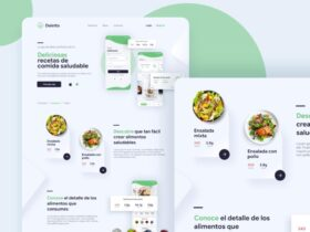 Free Healthy Food Landing Page (XD)