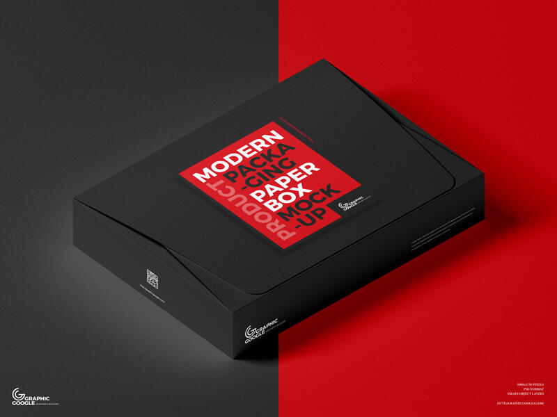Free Modern Product Packaging Paper Box Mockup