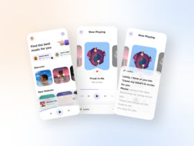 Free Music Player App UI Kits