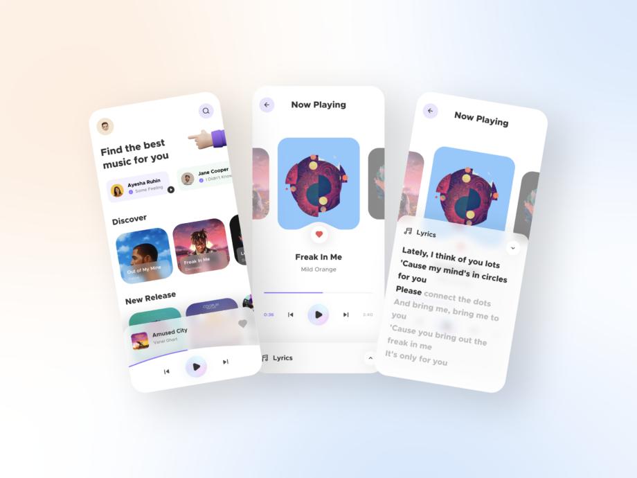 Free Music Player App UI Kits