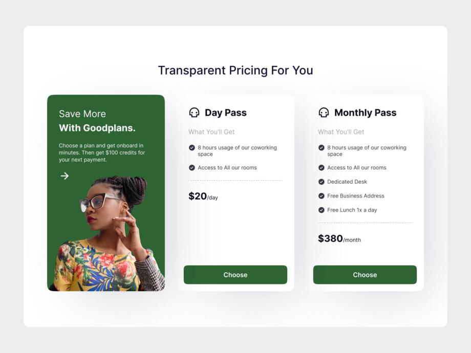 Free Pricing Table UI Component