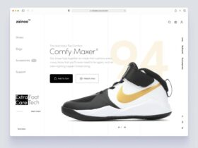 Free Shoe Store Website Product Page
