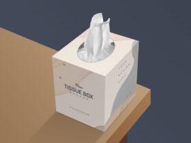 Free Tissue Box Mockup PSD