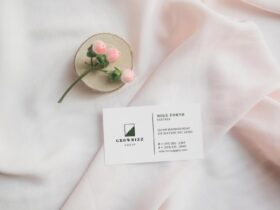 Free Aesthetic Business Card Design Mockup PSD