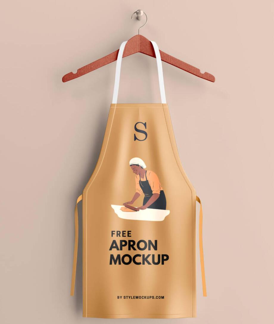 Free Apron mockup psd