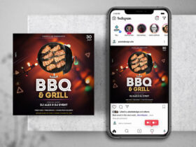 Free BBQ & Grill Event Instagram Banner Template PSD