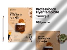 Free Beauty Care Products PSD Flyer Template