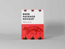 Free Beer Package Mockup PSD