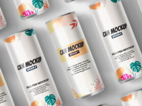 Free Can Packaging Mockup