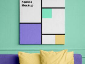 Free Canvas Square Mockup