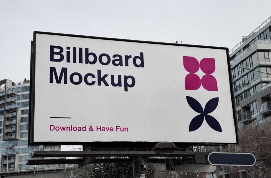 Free City Billboard PSD Mockup