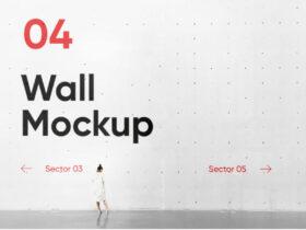 Free Concrete Wall PSD Mockup