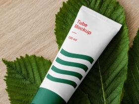 Free Cosmetics Tube Mockup PSD