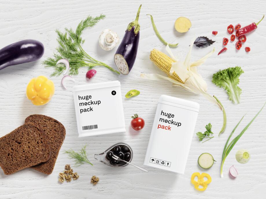 Free Creative Food Mockup Scene Creator