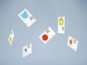 Free Creative Hanging Business Card Mockup PSD