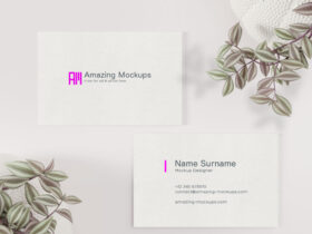 Free Delicate Business Card Mockup
