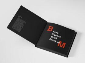 Free Elegant Square Book Mockup PSD