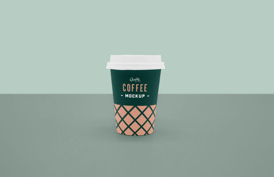 Free Front Coffee Cup Mockup
