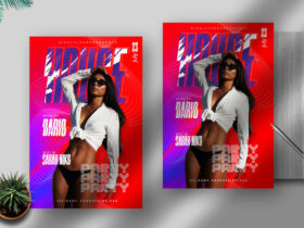 Free House Party Flyer PSD Template