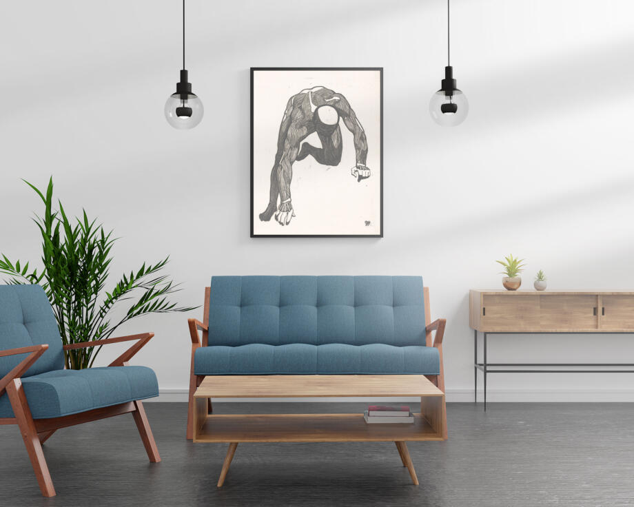 Free Interior Poster Mockup