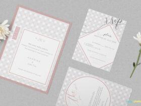 Free Lovely Wedding Invitation Mockup PSD