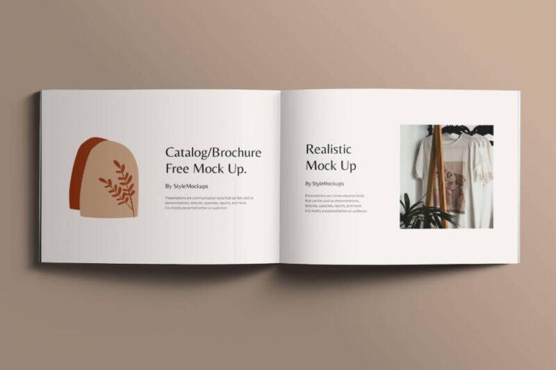 Free Open Square Catalog Mockup PSD