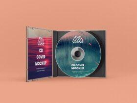 Free Opened CD Case Mockup PSD