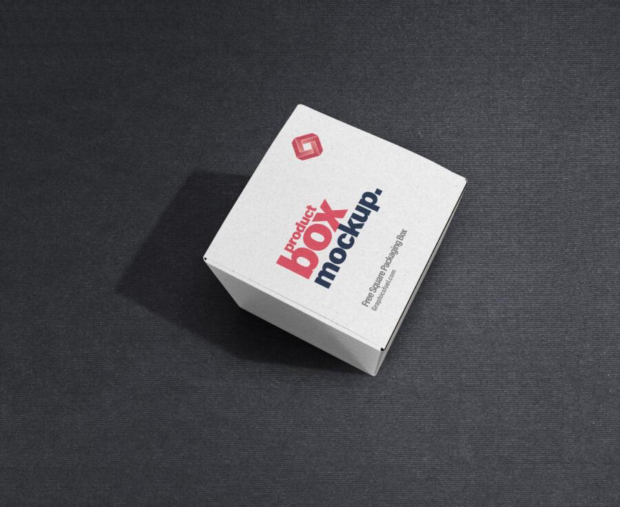 Free Product Box Mockup PSD