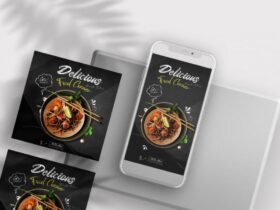 Free Restaurant Food Ad Instagram Banners Templates
