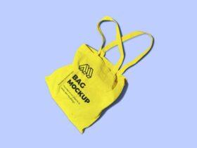 Free Reusable Bag Mockup PSD