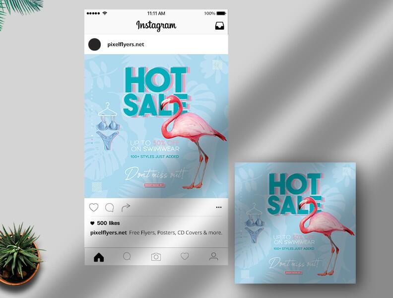 Free Sale Banner Instagram Post PSD Template