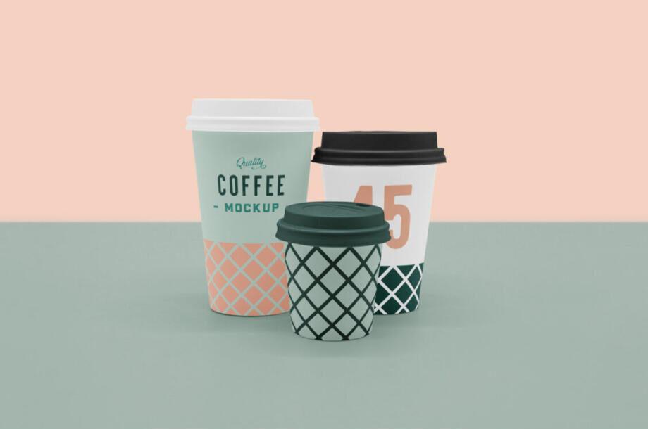 Free Scene Coffee Cup Mockup